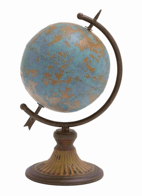 Eternal Enlightening World Globe Sculpture Brand Benzara