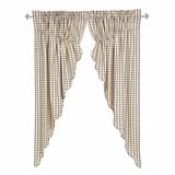 Ethan Scalloped Prairie Curtain Set of 2 63x36x18 - 25976 by VHC Brands