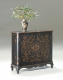 "European Black Console Cabinet 36""W by Butler Specialty"