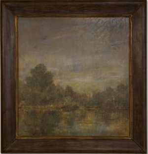 Eve's Lake Framed Art with Detailing in Multicolor Brand Uttermost