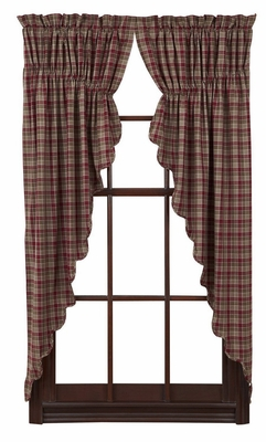Everson Prairie Curtain Scalloped Lined Set of 2 by VHC Brands