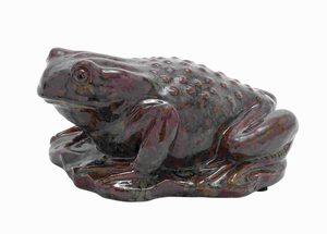 Exceptional Design Ceramic Frog with Glossy Polish on The Surface Brand Woodland