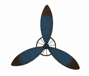 Exclusive and Classy Metal Propeller Wall Decorative Brand Benzara