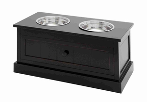Exclusive Black Trunk Pet Feeder Brand Benzara
