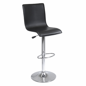 Exclusive L Shaped Spectrum Air Lift Stool with faux leather seat by Winsome Woods