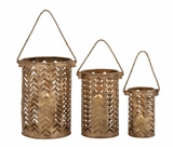 Exclusive Unique Styled Metal Lantern by Woodland Import