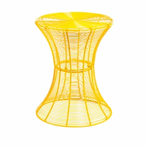 Exclusive Yellow Colored Circular Indoor/Outdoor Accent Table by Southern Enterprises