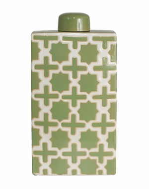 Exclusively Designed Green Ceramic Jar by Three Hands Corp