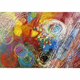 Exclusively Painted Cyclonic Abstraction I Artwork by Yosemite Home Decor