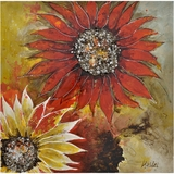 Exclusively Painted Sunburst Flower II Painting by Yosemite Home Decor