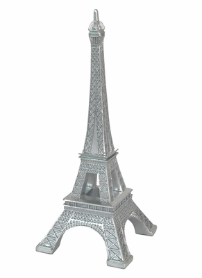 Exclusively Silver Resin Eiffel Tower by Three Hands Corp