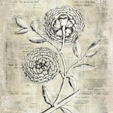 Exclusively Styled Antiqued Bloom II Painting by Yosemite Home Decor