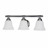 Exorbitantly Styled 3 Light Vanity Lighting in Chrome Frame by Yosemite Home Decor