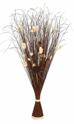 "Exotic Floral Bunch Natural Decor Room Accent 38""H Brand Woodland"