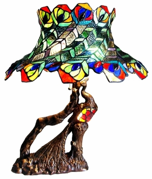 Exquisite and Bright Peacock Table Lamp by Chloe Lighting