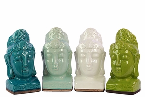 Exquisite and Classy Set of Four Buddha Stoneware by Urban Trends Collection