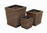 Exquisite and Durable Wood Planter with Wooden Pedestals Brand Woodland