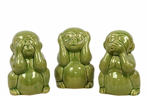 Exquisite and Elegant Set of Three Figurine Monkeys