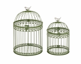 Exquisite and Lovely Set of 2 Acrylic Bird Cages by Woodland Import