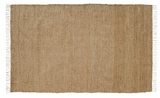 Exquisite Burlap Natural Chindi/Rag Rug by VHC Brands
