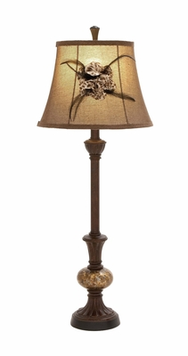 Exquisite Modish Styled Polystone Glass Ball Buffet Lamp by Woodland Import