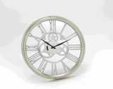 Exquisite Roman Numbered with Silver Dial Wall Clock Brand Benzara