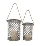 Exquisite Unique Styled Metal Lantern by Woodland Import