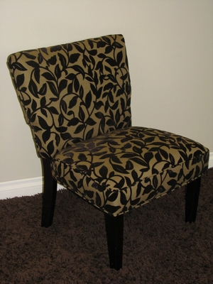 Exquisite Versize Accent Chair in Brown Flock by 4D Concepts