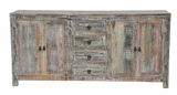 Exquisite Wooden Hampton Buffet with Storage Sections and Four Drawers