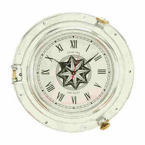 Exquisitely Designed Metal Port Hole Clock with A Sparkle Brand Woodland
