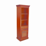 Exquisitely Designed Wood Finish Bookcase by Yosemite Home Decor