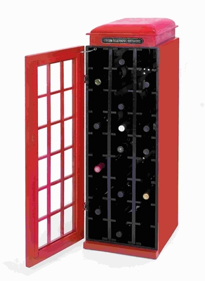 Exquisitely Designed Wood Wine Cabinet with A Dark Black Finish Brand Woodland