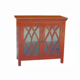 Exquisitely Styled Wood Finish Display Cabinet by Yosemite Home Decor