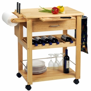 Extraordinary Piece of Deluxe Kitchen Cart by Winsome Woods