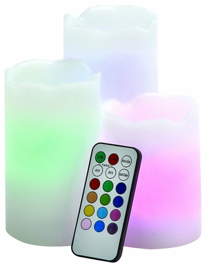 Eye Catching Led Wax Candle Remote Set by Woodland Import
