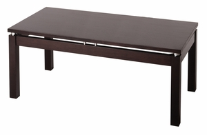 Eye Catching Linea Coffee Table with Chrome Accent by Winsome Woods
