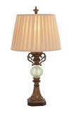 Eye-Catching Styled Polystone Glass Ball Table Lamp by Woodland Import