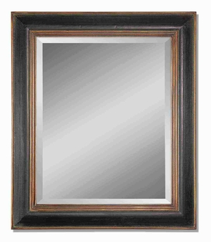 Fabiano Wall Mirror with Hand Rubbed Gray Glaze Brand Uttermost
