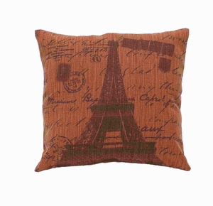 Fabric Pillow for Back and Head Support in Soft Rust Shade Brand Woodland