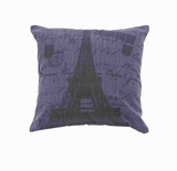 Fabric Pillow in Navy Blue Color with Faded Black Printing Brand Woodland