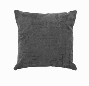 Fabric Pillow in Solid Grey Color with Durability and Comfort Brand Woodland