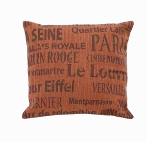 Fabric Pillow with Flush Filling & Elegant Design in Red Shade Brand Woodland