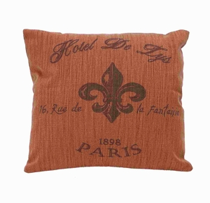 Fabric Pillow with Plush Cushioning in Subtle Reddish Shade Brand Woodland