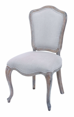 Fabric Upholstered Wooden Chair with Sturdy Wooden Frame Brand Woodland