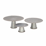 Fabulous Galvanize Cake Stand Set Of 3