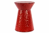 Fabulous Red Shiny Metal stool