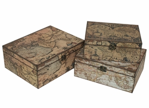 Fabulous Set of Three Wood Box by Three Hands Corp