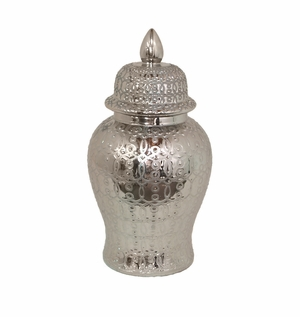 Fabulous Silver Temple Jar by Three Hands Corp