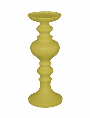 Fabulous Yellow Resin Small Candle Holder by Three Hands Corp
