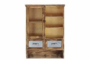 Faded Patterned and Sophisticated Wooden Cabinet